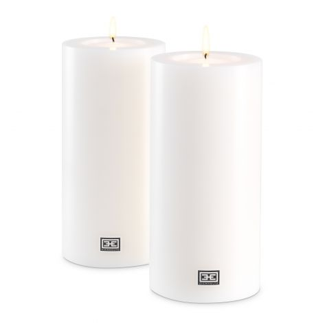 Artificial Candle ø 10 x H. 21 cm set of 2