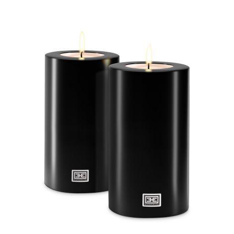Artificial Candle ø 10 x H. 21 cm set of 2