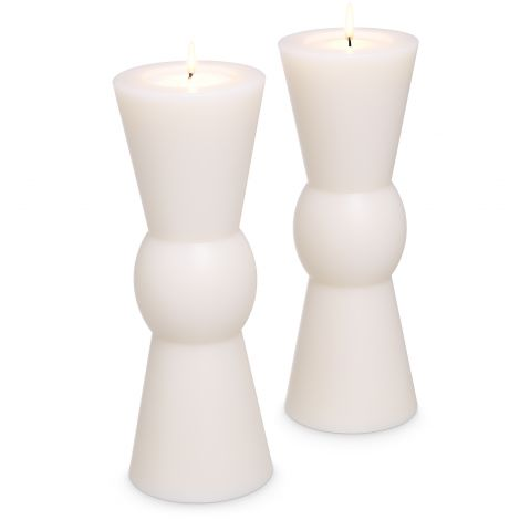Artificial Candle Arto L set of 2