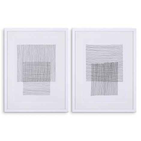 Prints Pencil Drawings set of 2