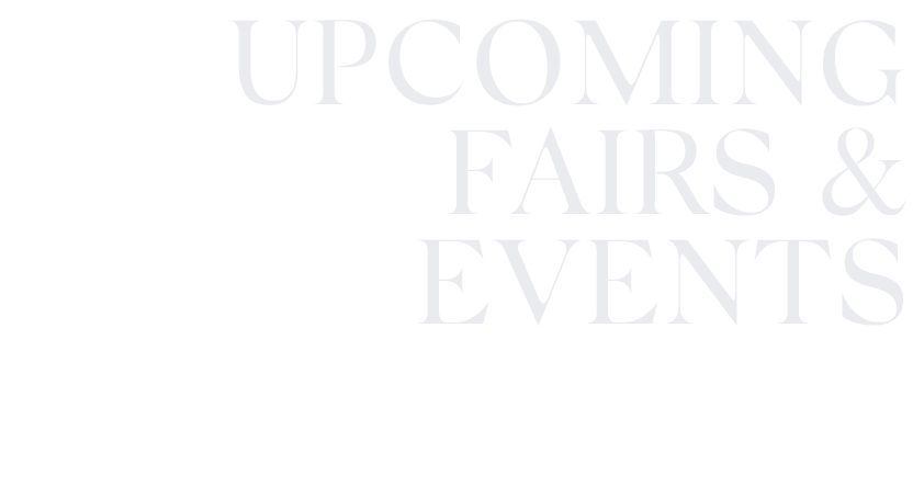 Upcoming fairs & events