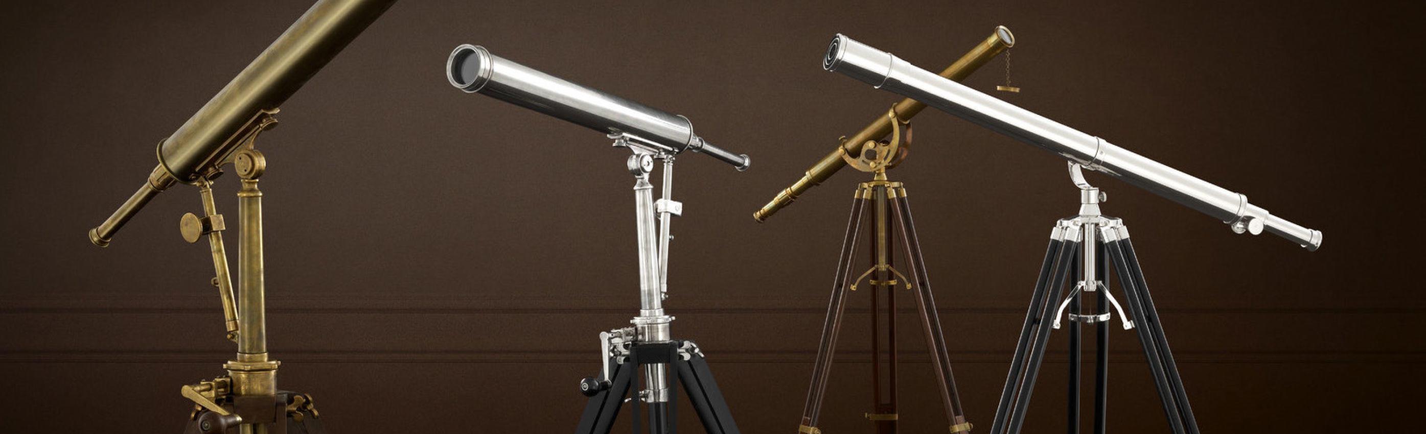Telescopes, easels & dressboys