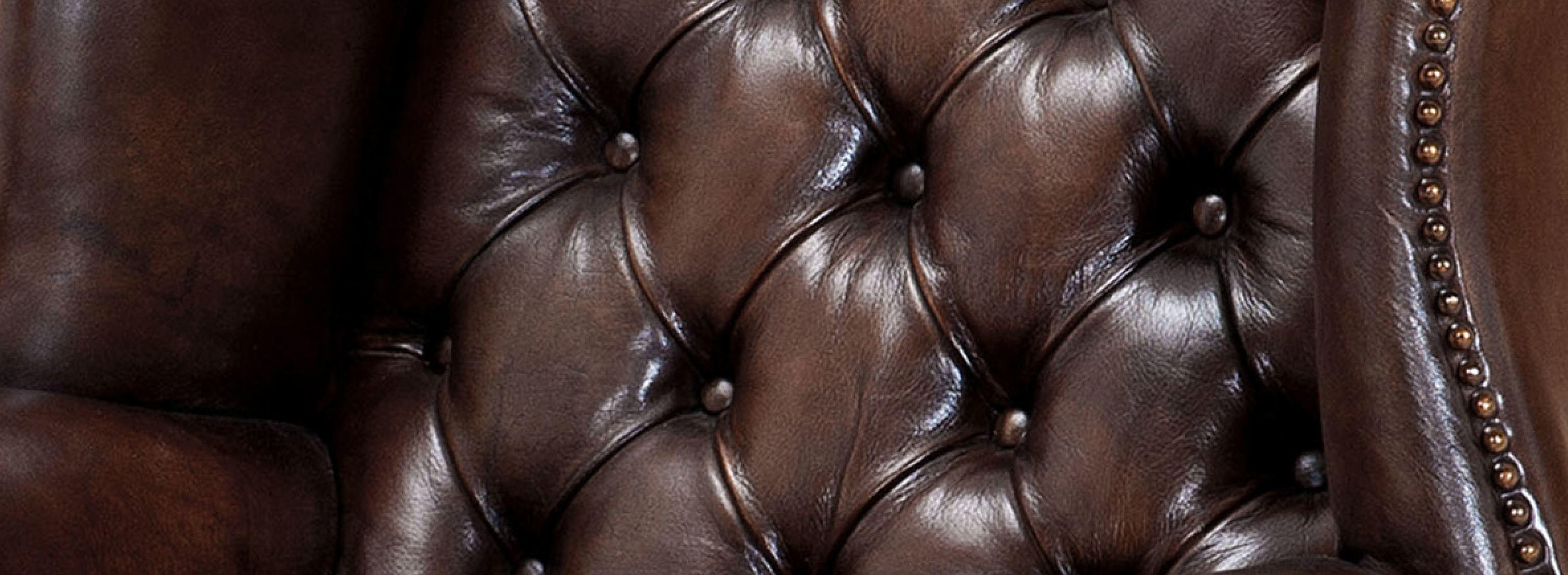 Leather upholstery detail