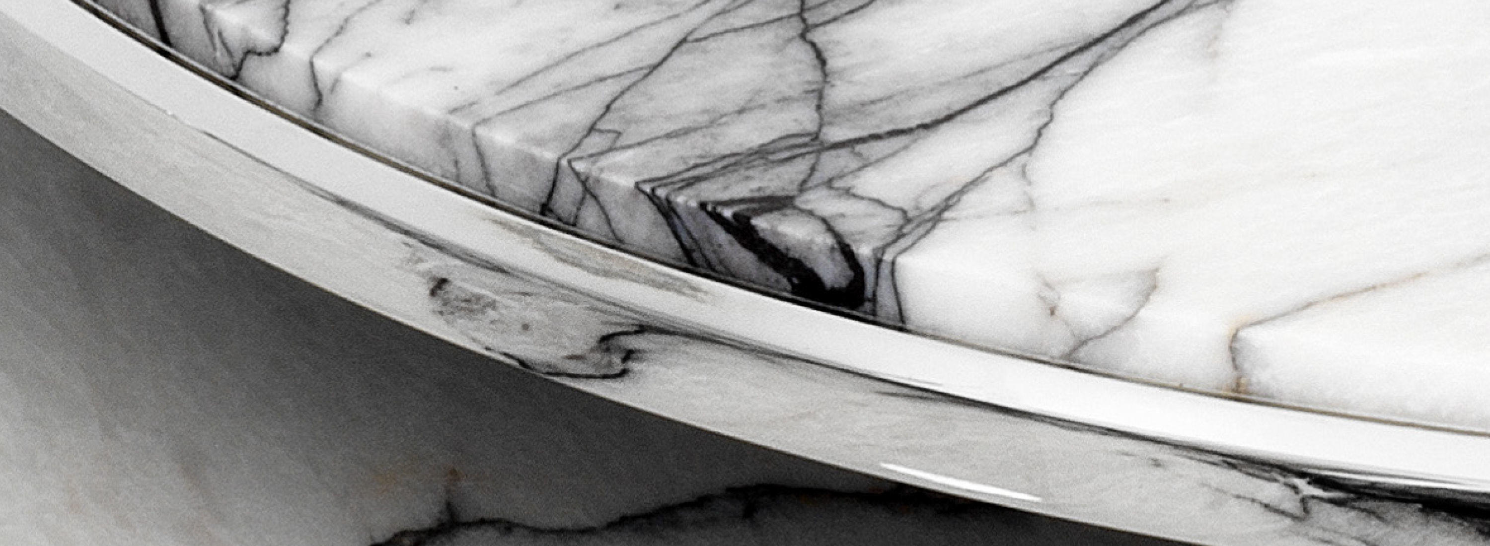 Metal finishes and marble detail